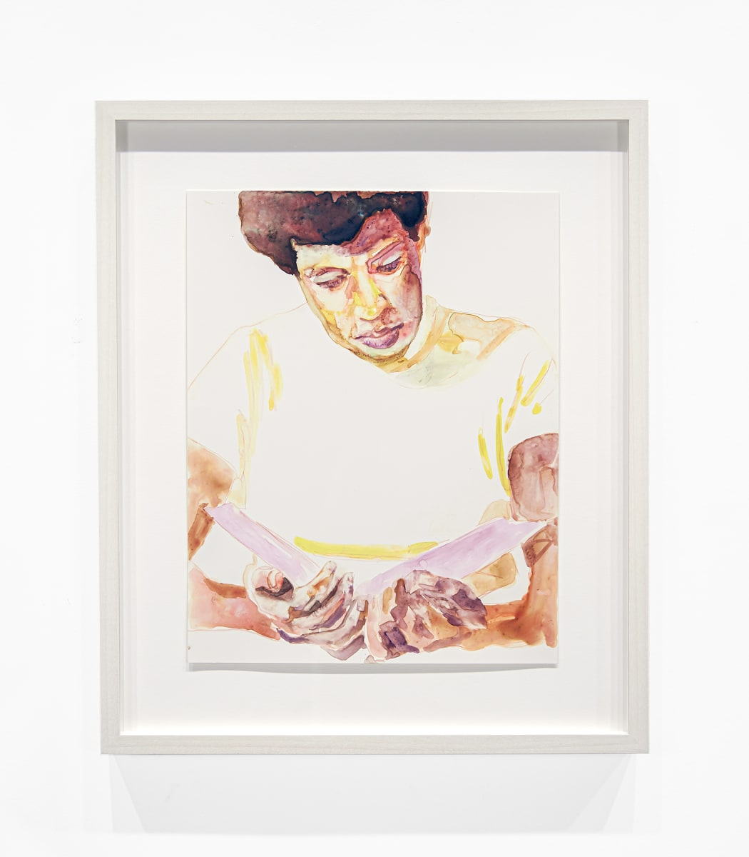 """Study for """"Octavia Butler Reading"""" by Angela Fraleigh"""
