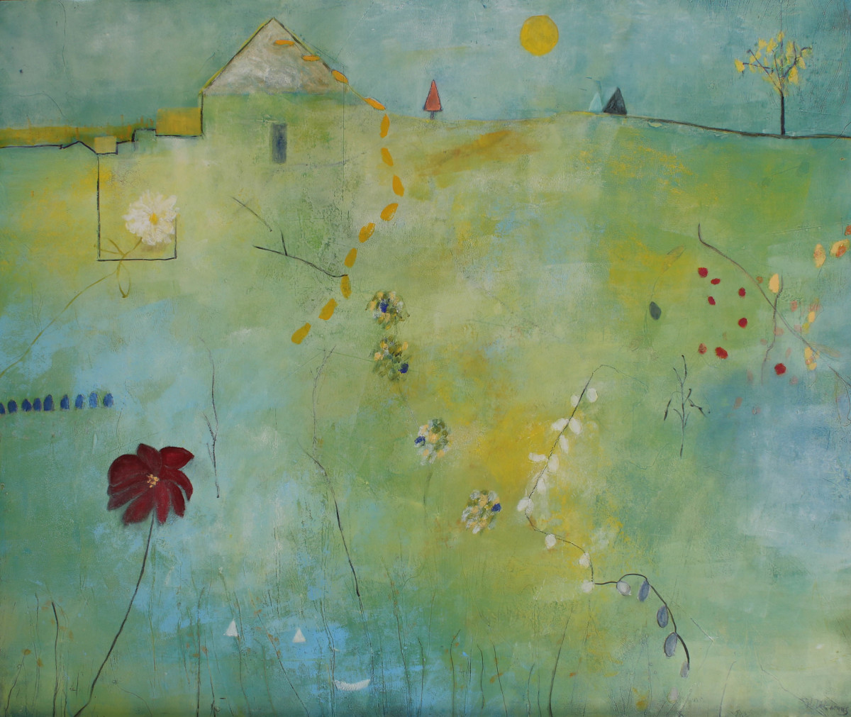 Blue Mist in the Valley by Helen DeRamus