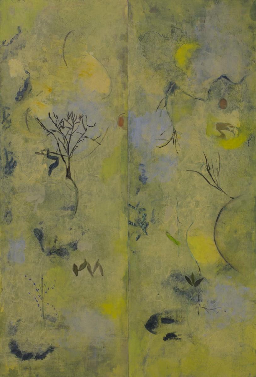 Daydreamer (diptych) by Helen DeRamus