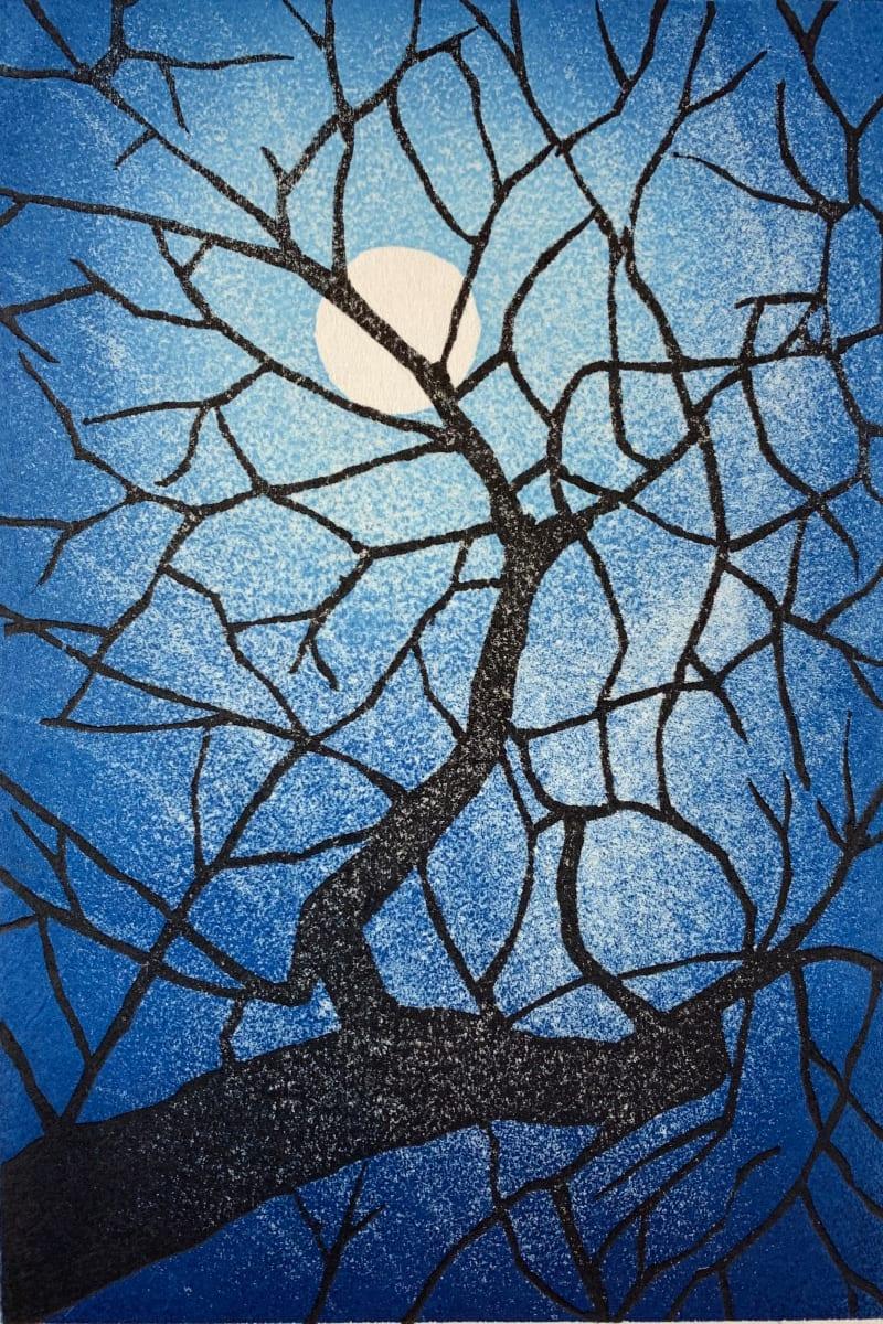 Japanese moon: sakura by Mara Cozzolino