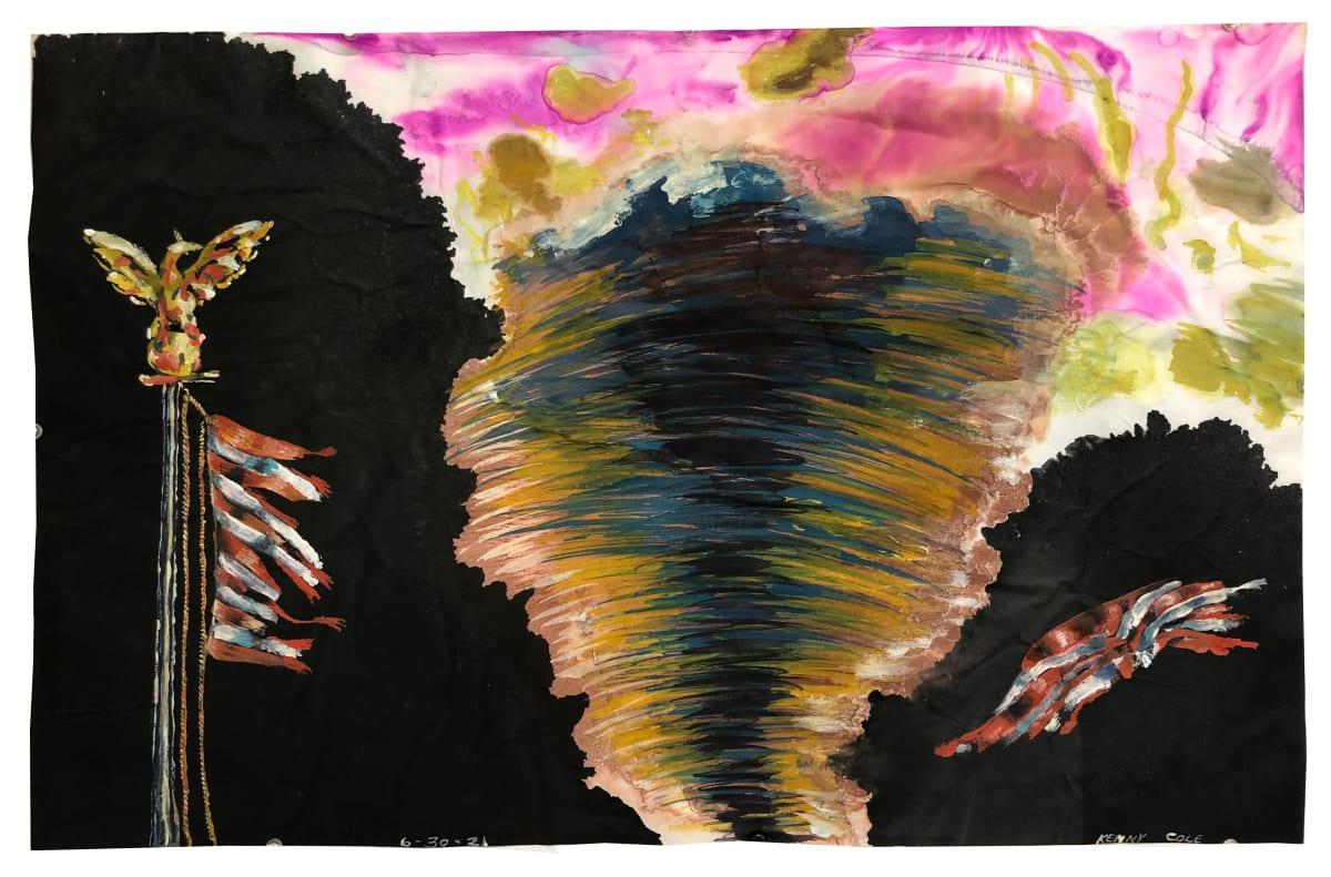 """Shredder"" by Kenny Cole  Image: Tornado tearing into an American flag."