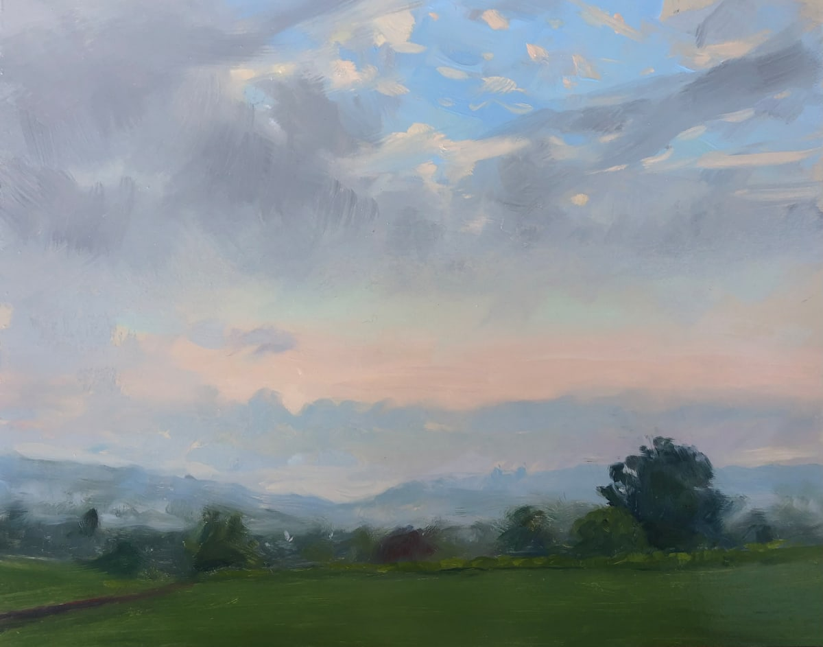 Fog LIfting, Sunrise by Laurie Maher