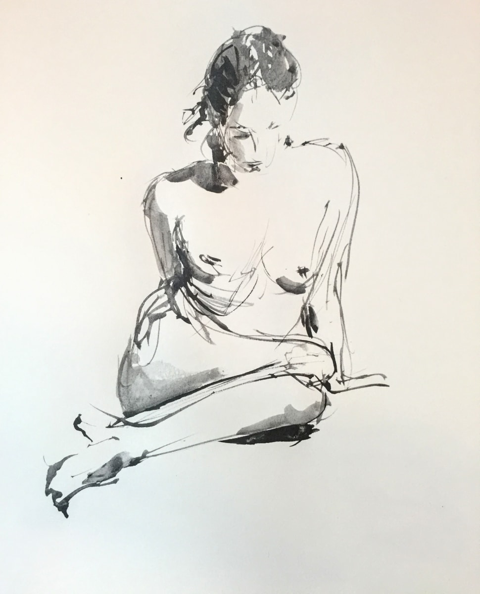 Seated Figure 1 by Laurie Maher