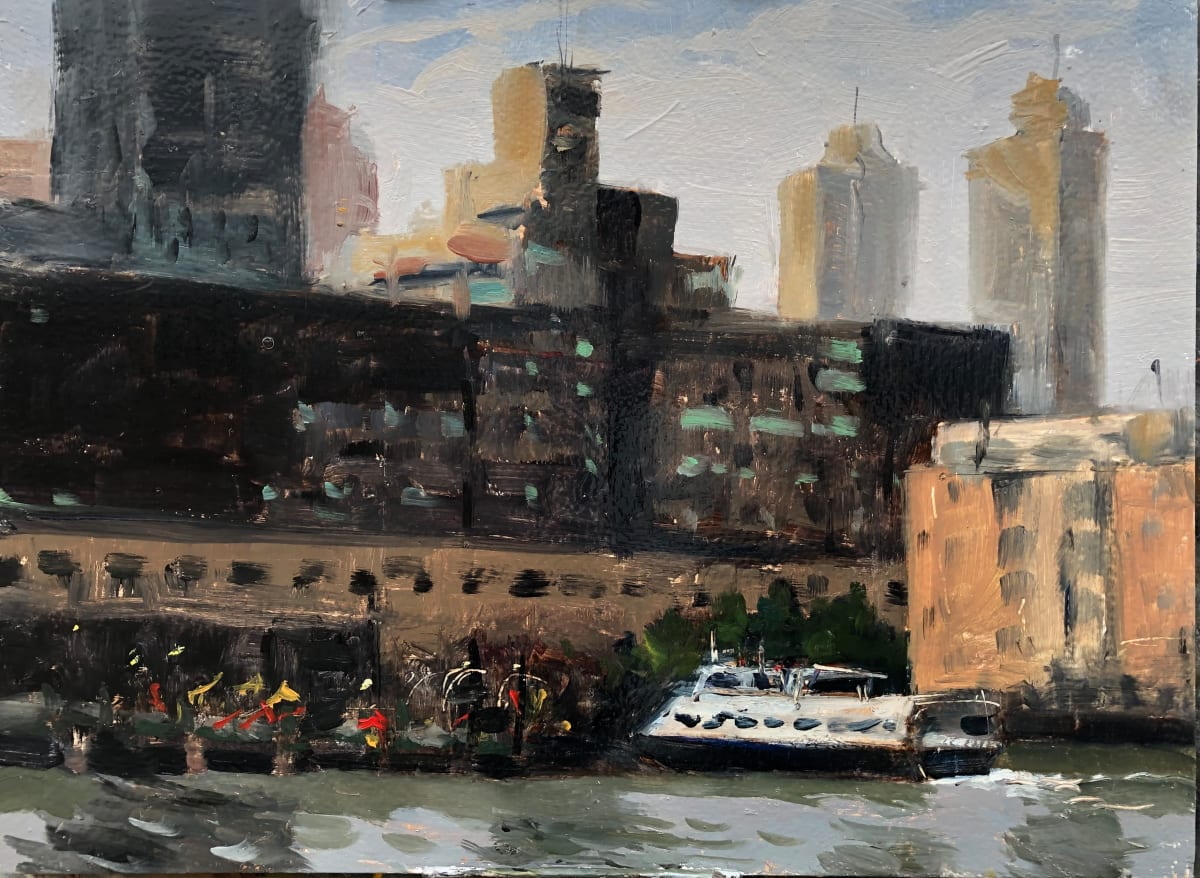 Jersey City Ferry by Laurie Maher