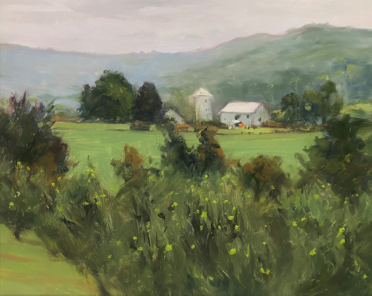 Rainy Morning Over Melick's Farm by Laurie Maher