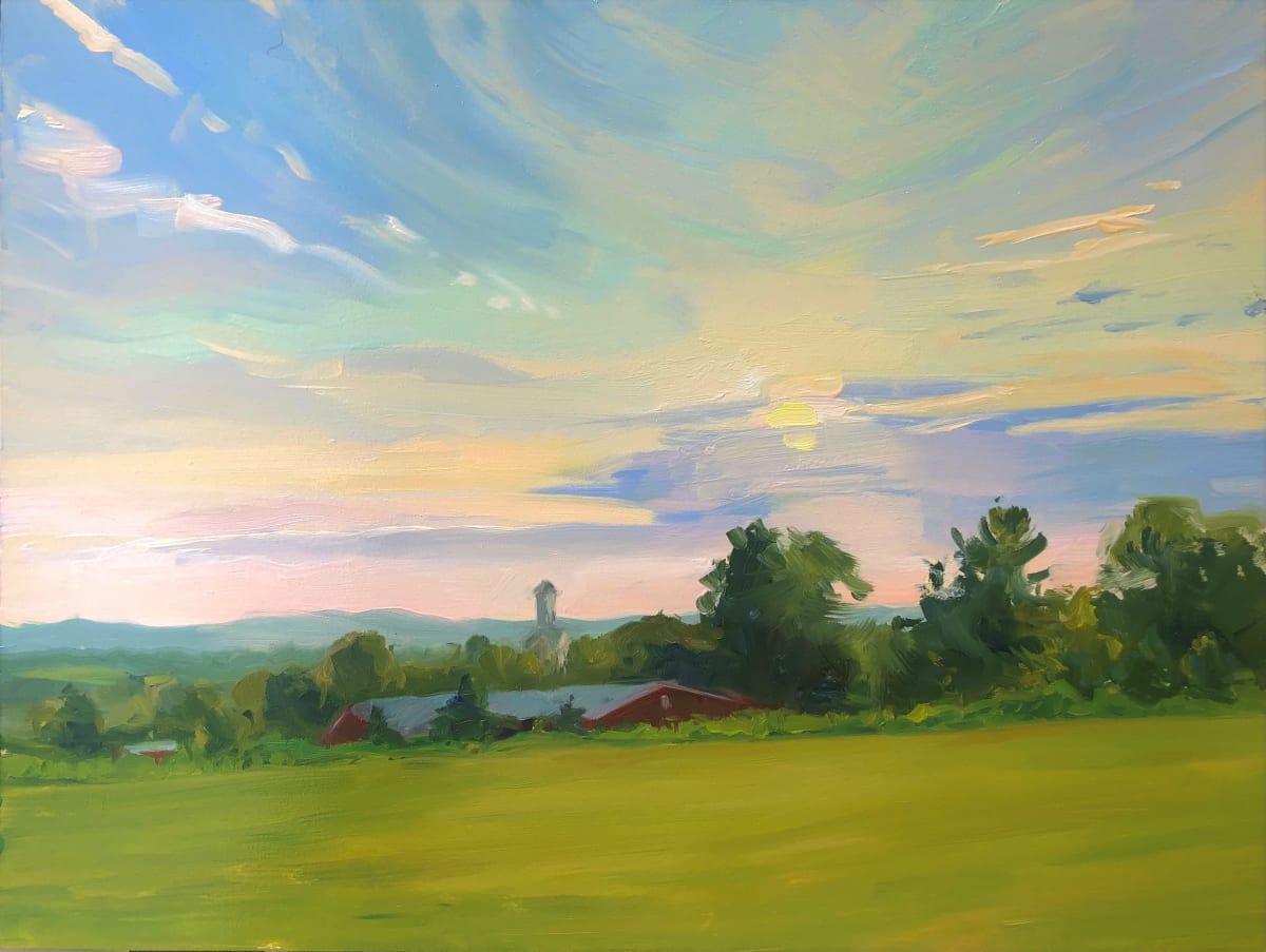 Sunrise Over Melick's Farm by Laurie Maher