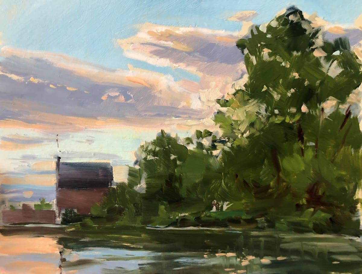 Sunset at Michael J. Nervine Memorial Park, Bernardsville NJ by Laurie Maher
