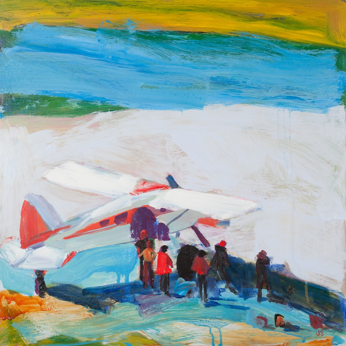 The Airplane Painting by Jessica Singerman