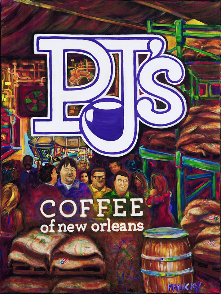 PJ's Coffee New Brand Poster