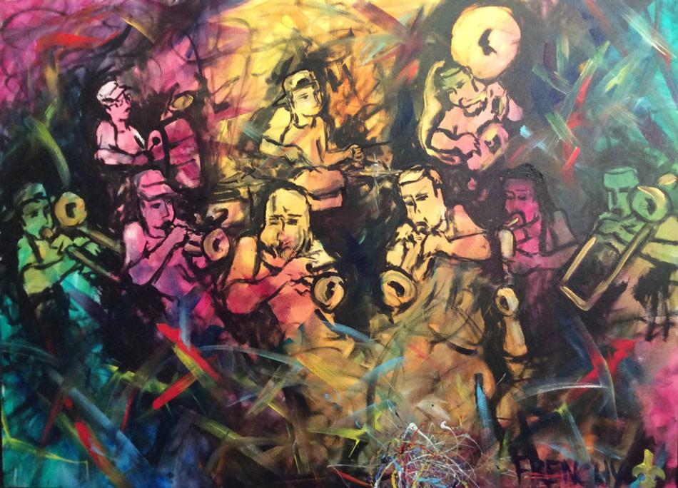 Rebirth Brass Band by Frenchy