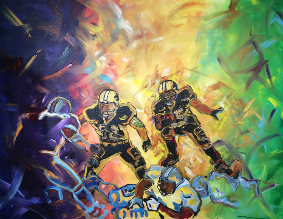 Saints vs. Panthers by Frenchy