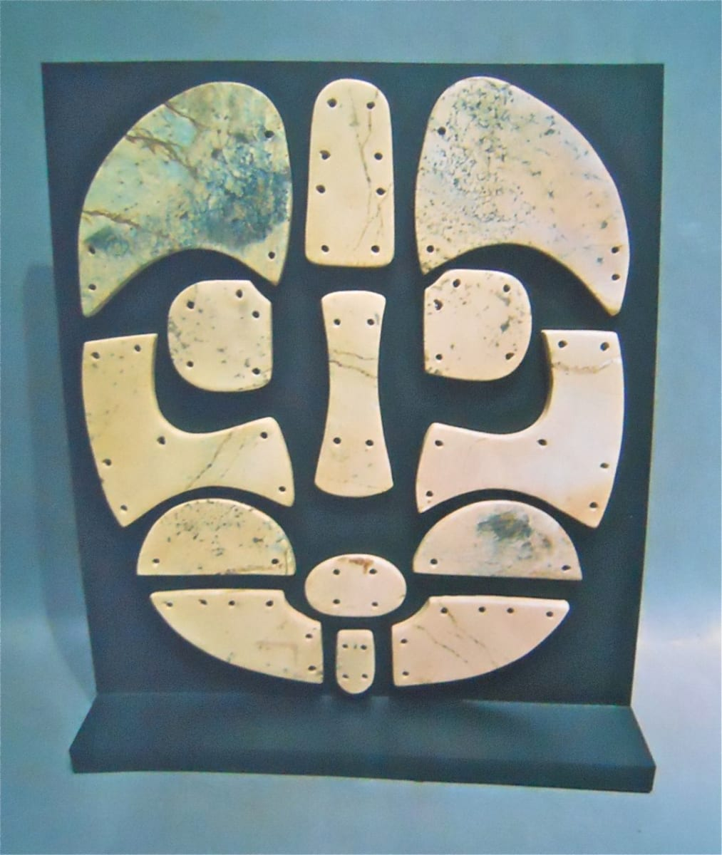 Mosaic Tile Mask, Late Neolithic, Gansu Area, China (1) by Unknown
