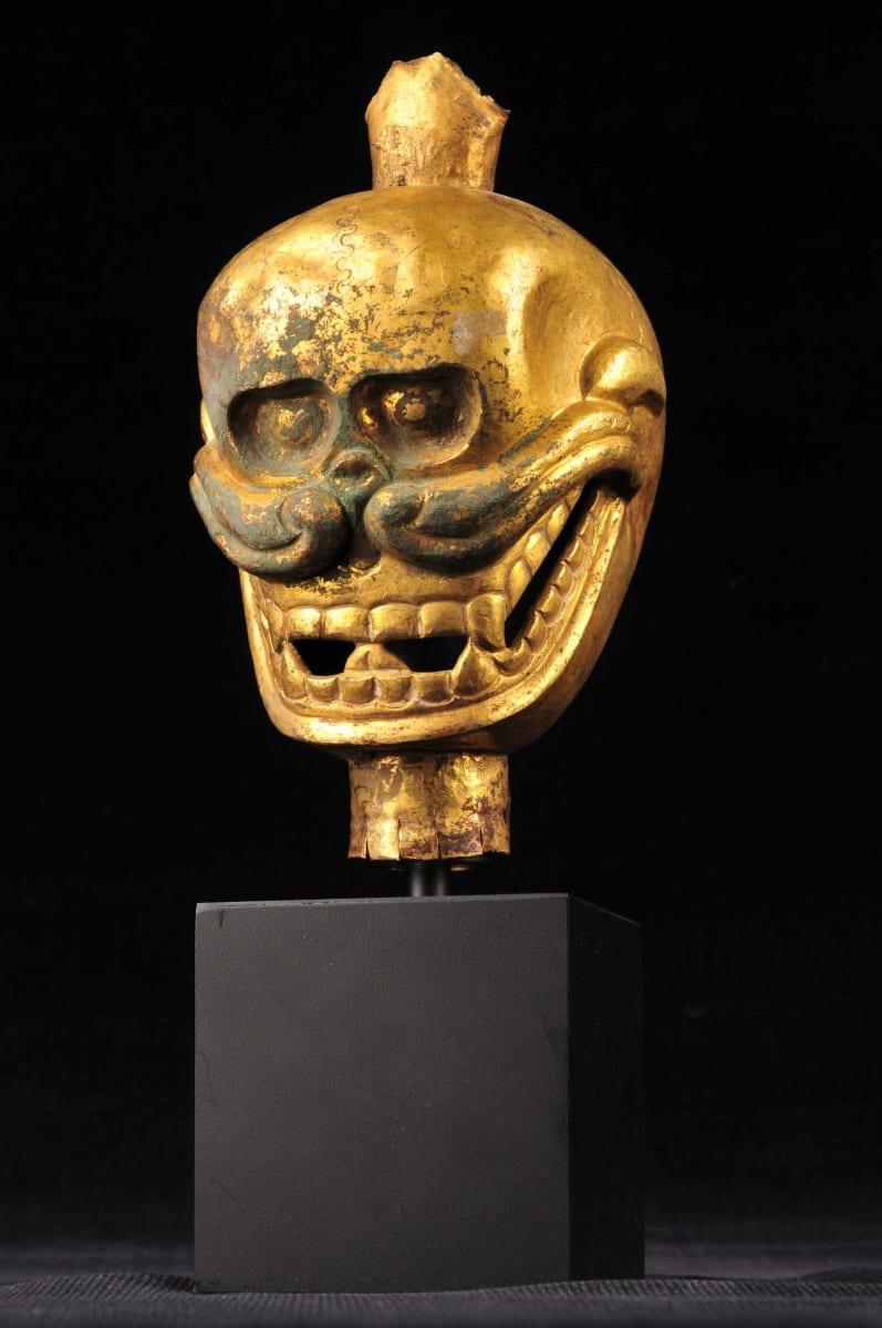 Copper Enameled Tibetan Skull (1) by Unknown