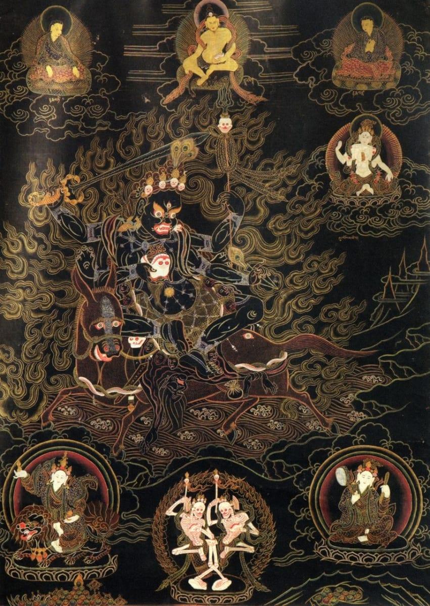 Dho Kham Wang Mo (Thangka) Citipati by Unknown