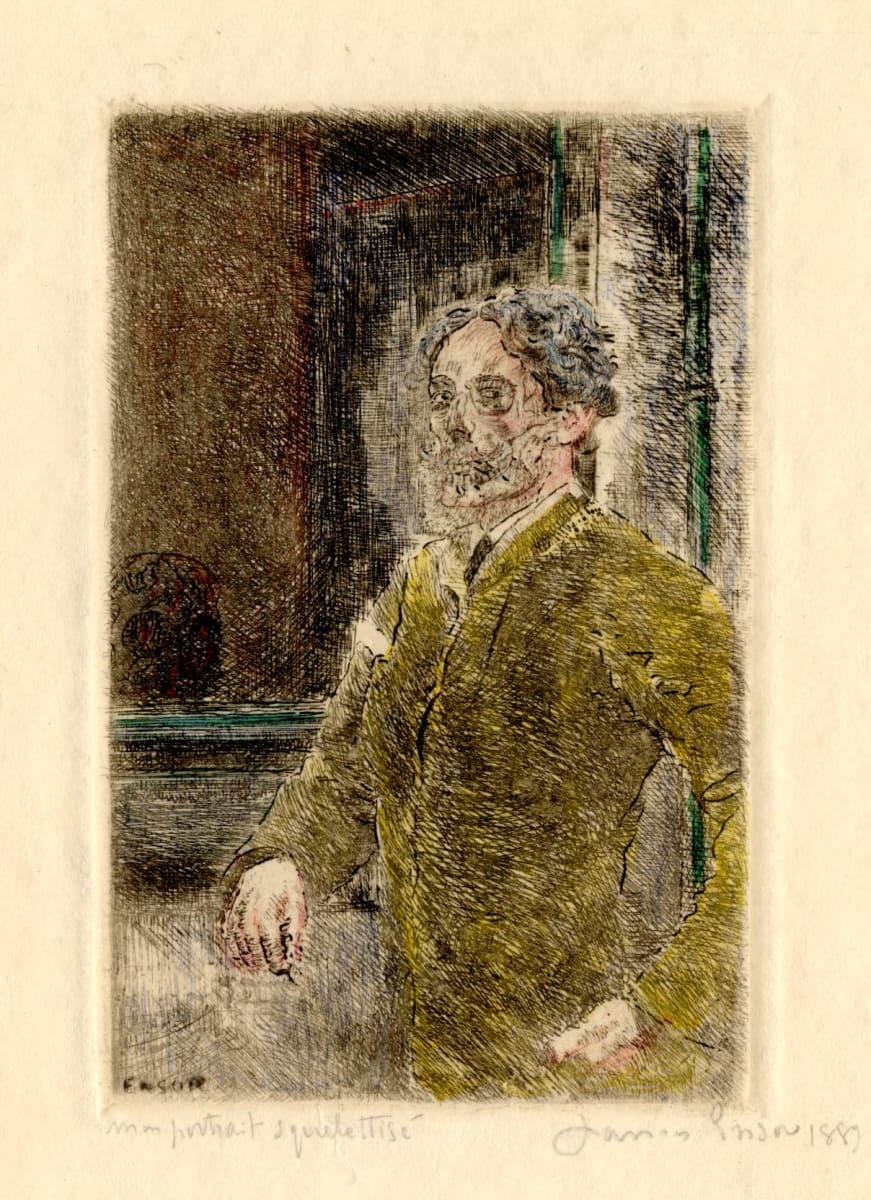 Mon portrait squelettisé (My portrait skeletonized) by James Ensor