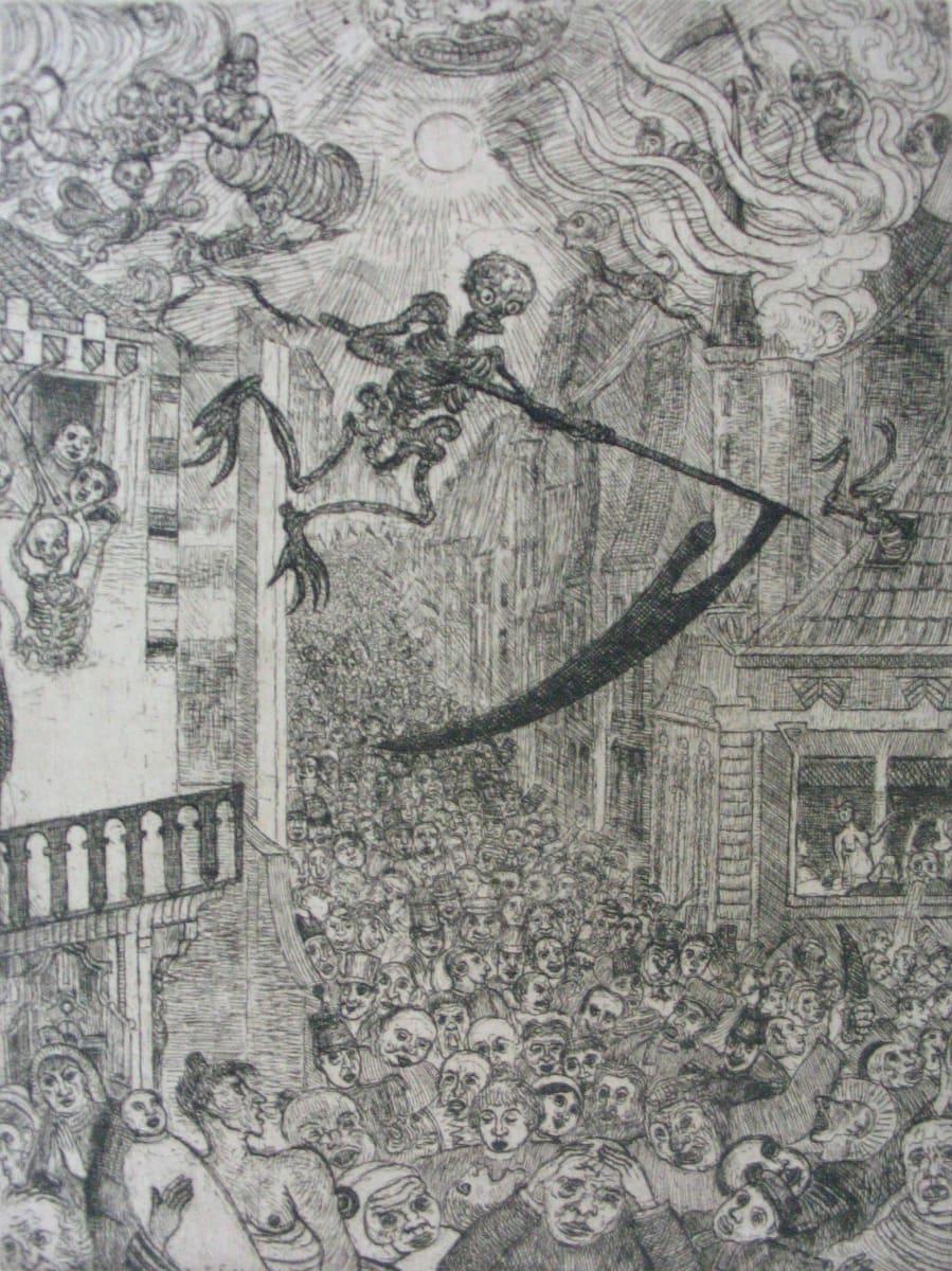 La Mort poursuivant le troupeau des humains (Death chasing the flock of mortals) by James Ensor