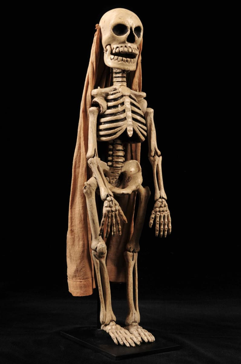 Skeleton Puppet with Cape by Unknown