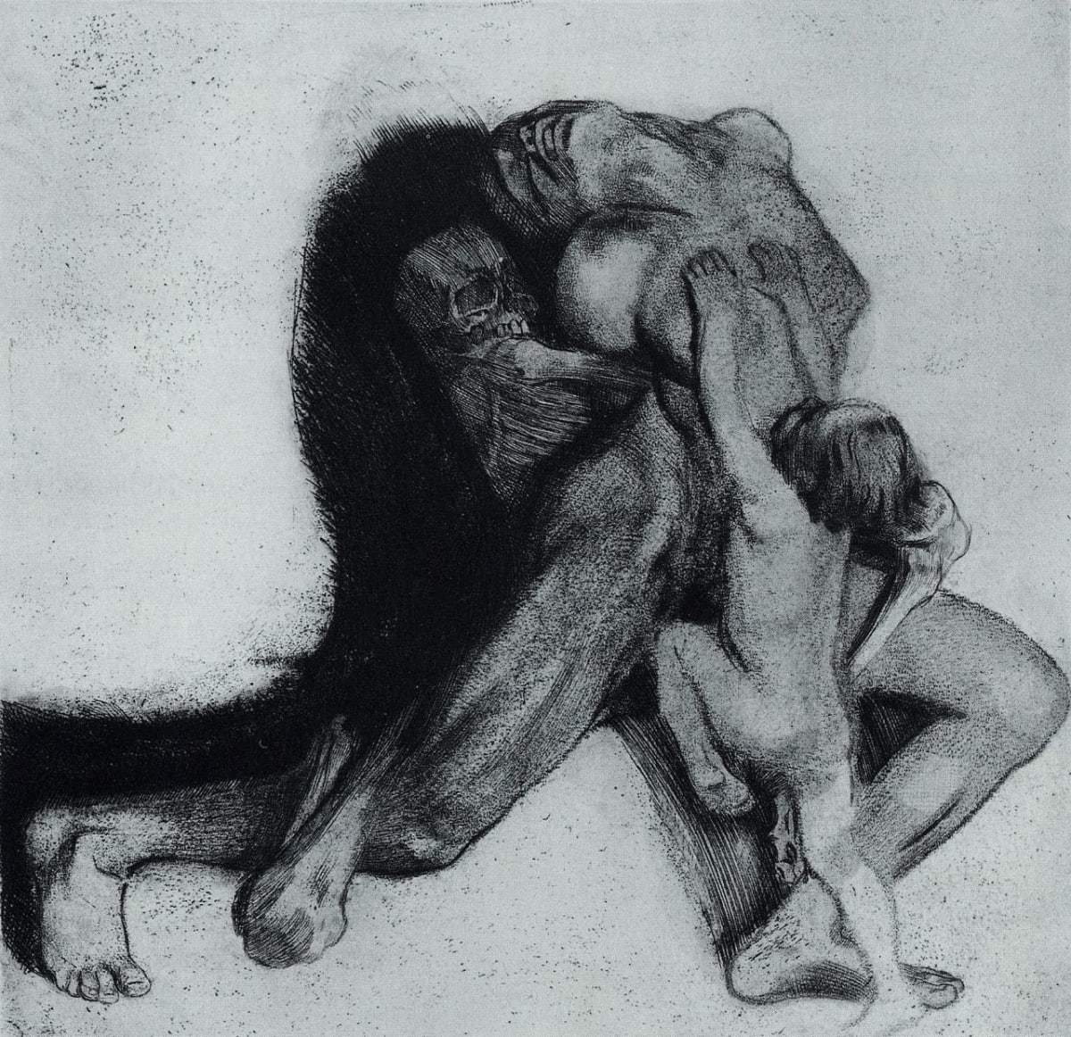 Tod und Frau (Death and the Woman) by Käthe Kollwitz