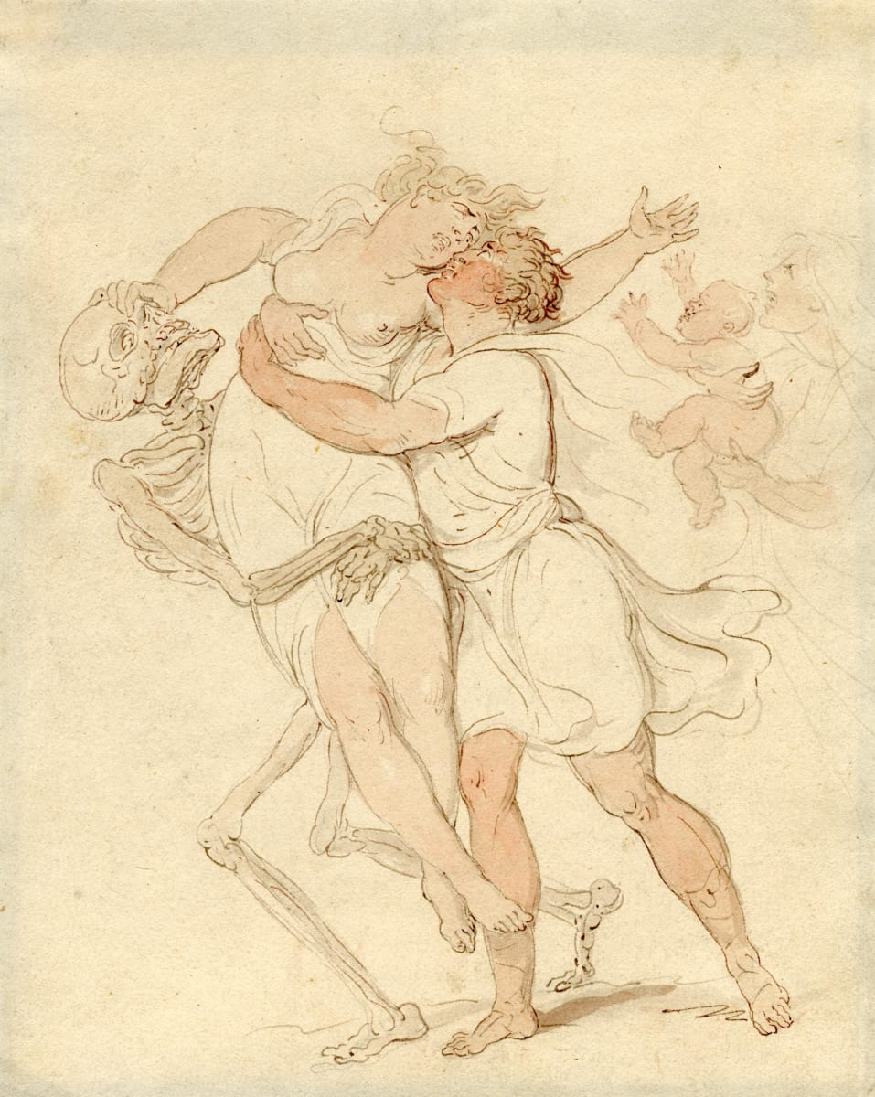 Death Taking the Young Mother by Thomas Rowlandson