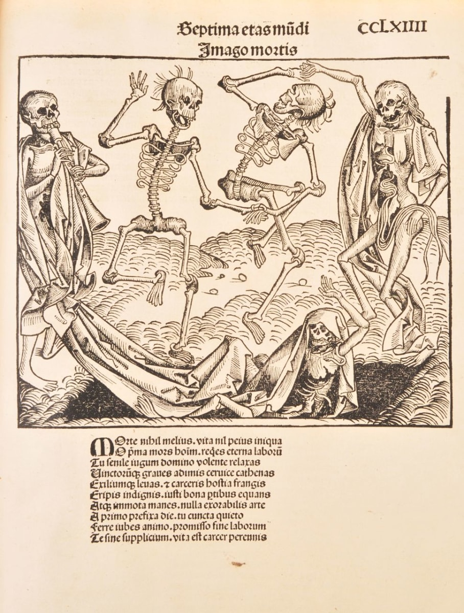 The Nuremberg Chronicle: Totentanz, Darstellung von 1493 by Unknown