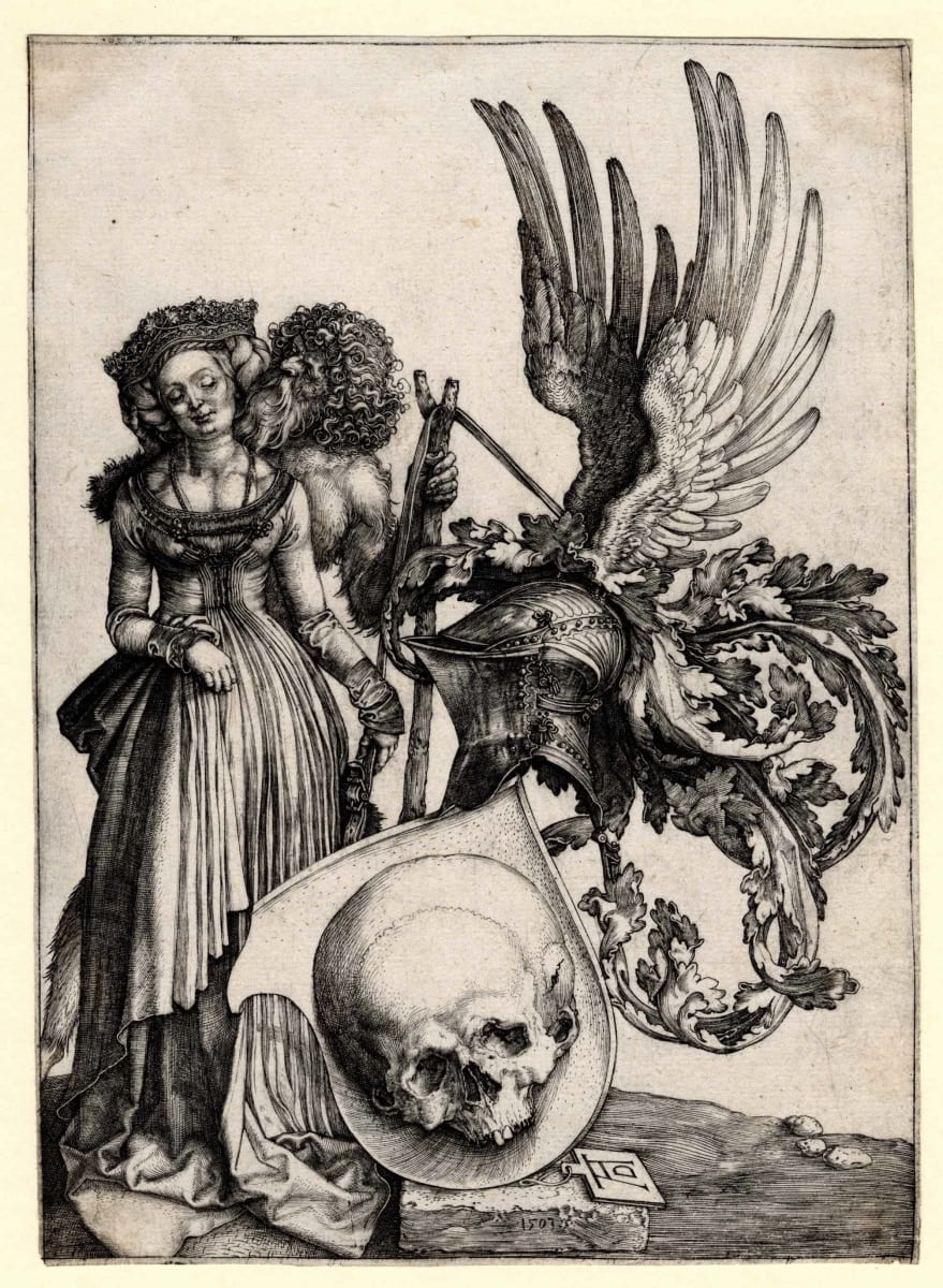 The Coat of Arms with the Skull by Albrecht Durer