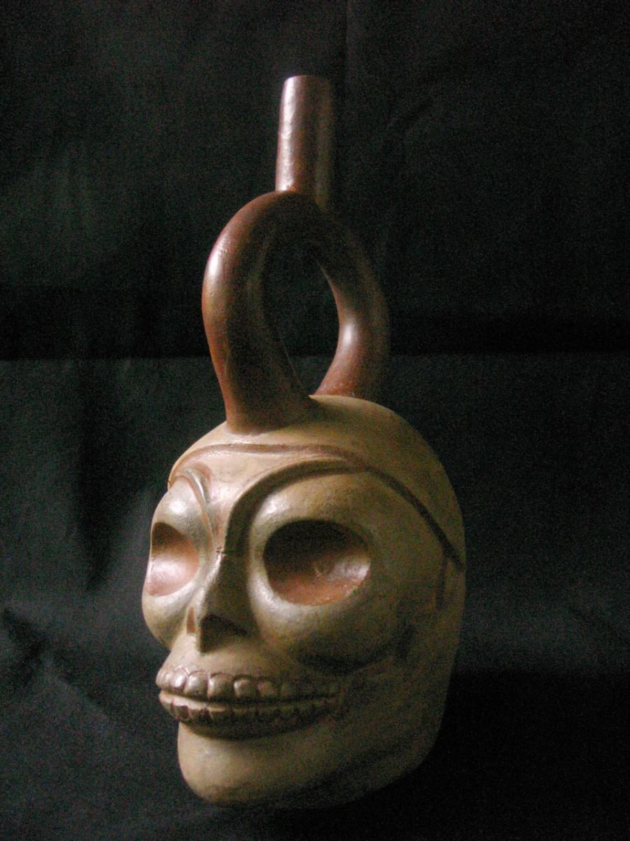Peruvian Moche IV Stirrup Spout Vessel (1) by Unknown