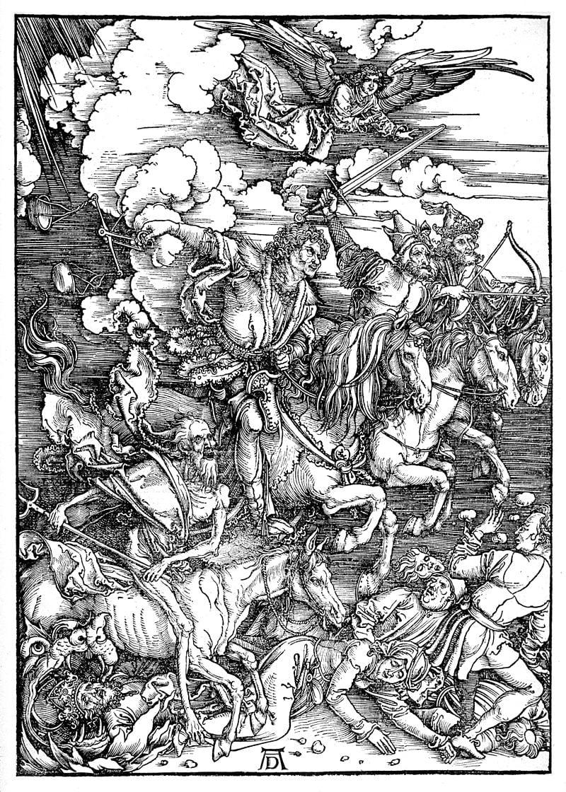 Die Apokalytischen Reiter (Four Horseman of the Apocalyse by Albrecht Durer