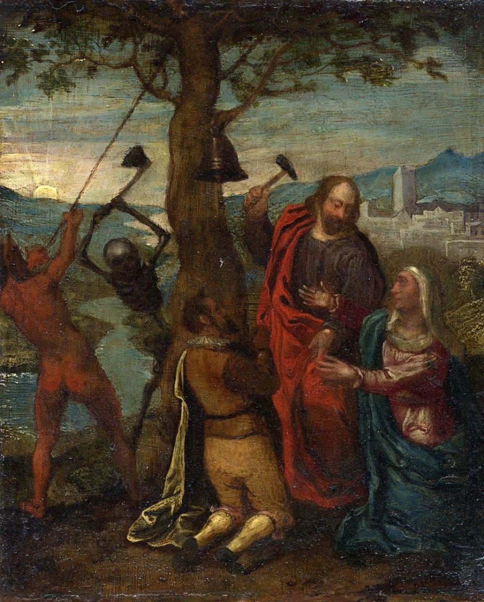 Memento Mori (Allegory of the Good Death) by Follower of Hendrick Goltzius