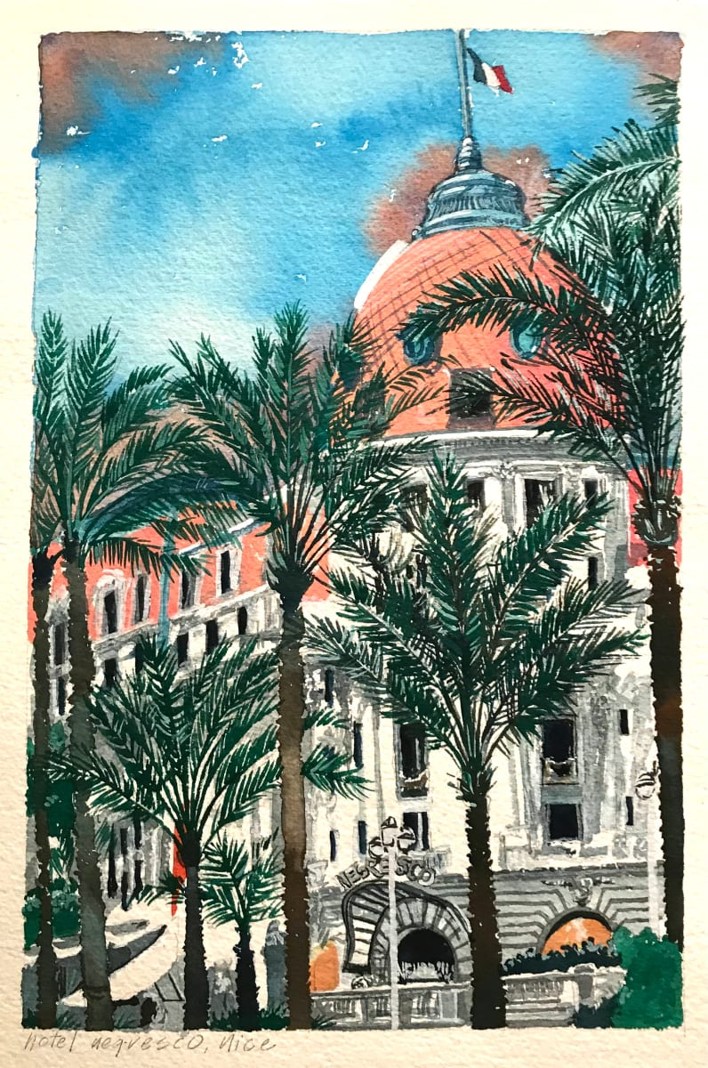 French Postcard Series: Hotel Negresco, Nice by Michael Anderson