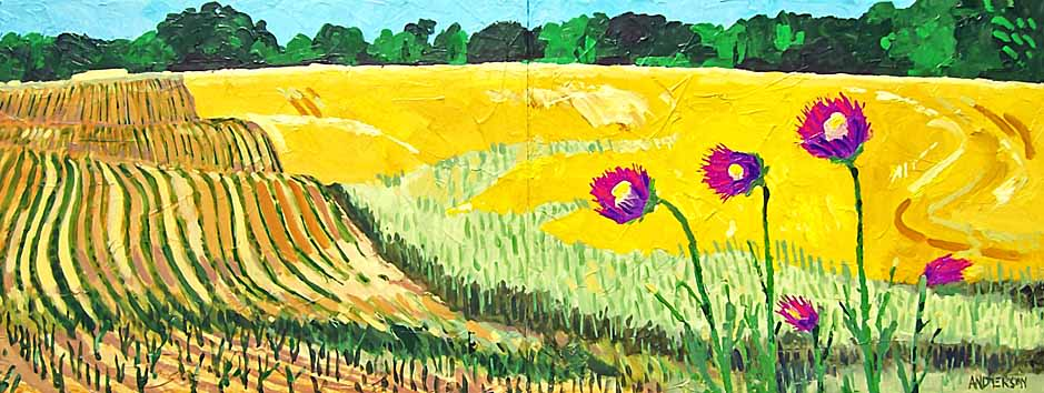 Thistles And Fields by Michael Anderson