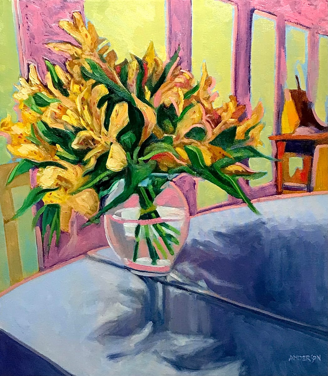 Flowers On A Table by Michael Anderson