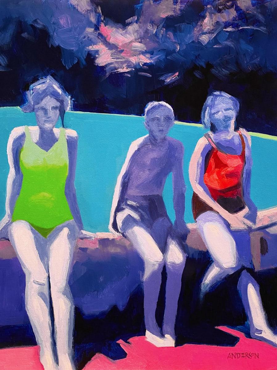 Backyard Pool by Michael Anderson