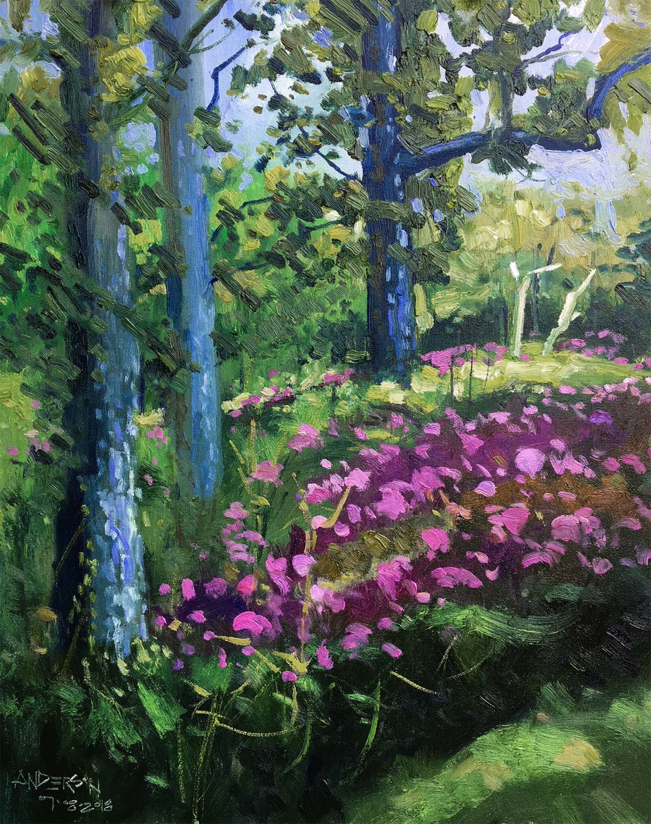 Trees & Summer Phlox, 07/08/2018