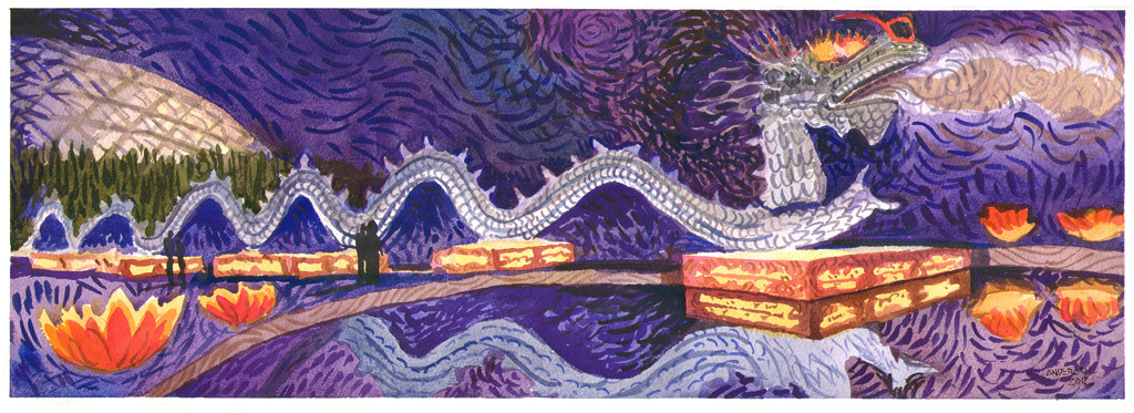 Lantern Festival Dragon by Michael Anderson