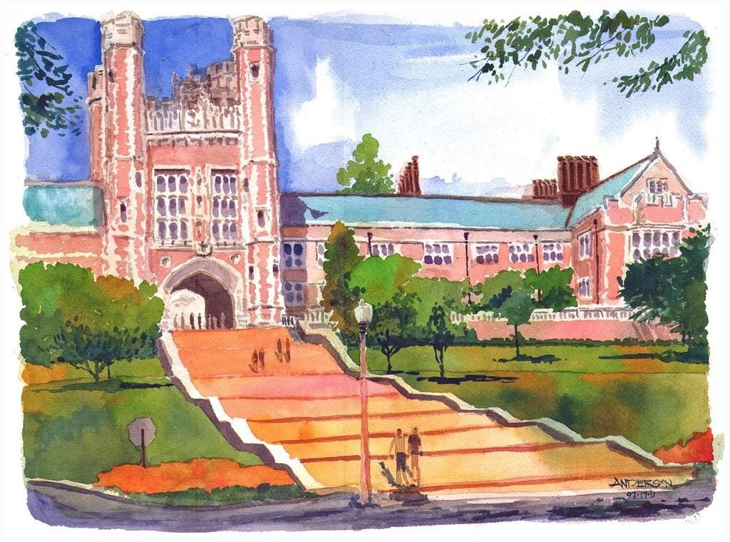 Brookings Hall, Washington University by Michael Anderson