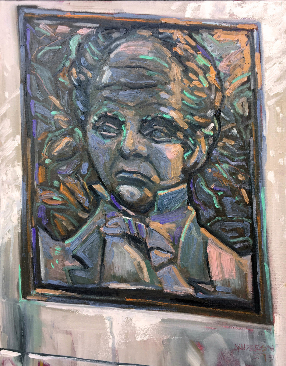 Edward Coles Bas Relief, Valley View Cemetery