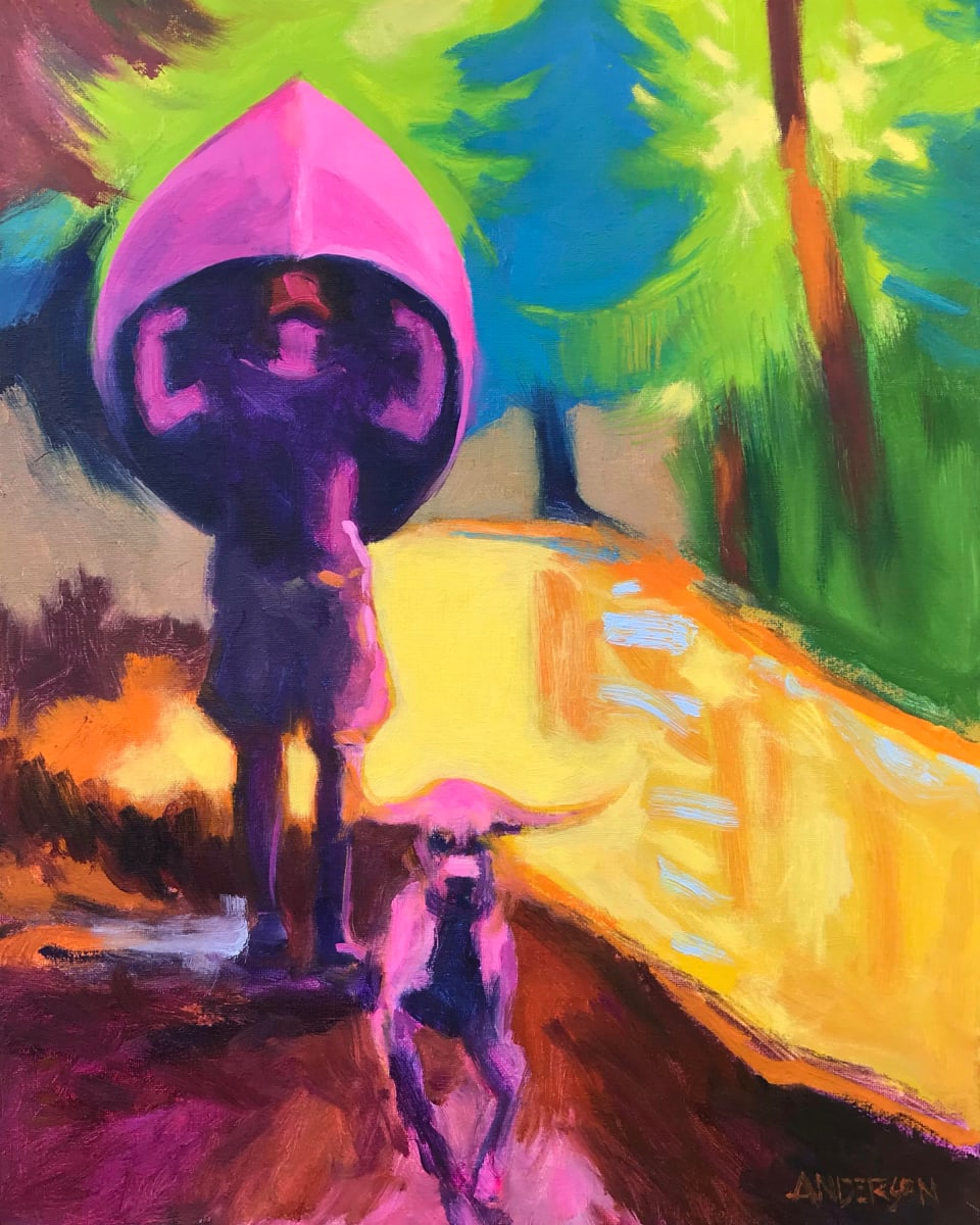 Pink Dog by Michael Anderson