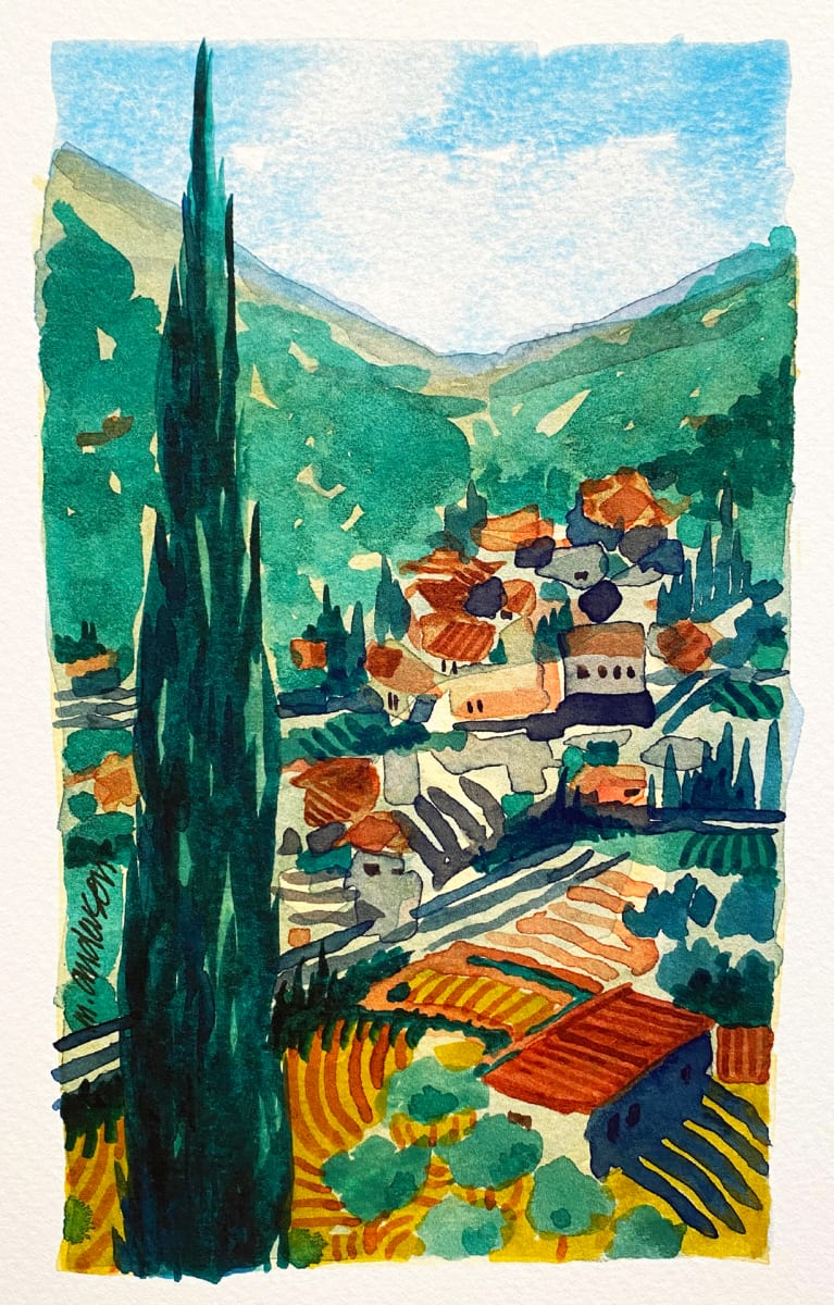 Tuscan Landscape by Michael Anderson