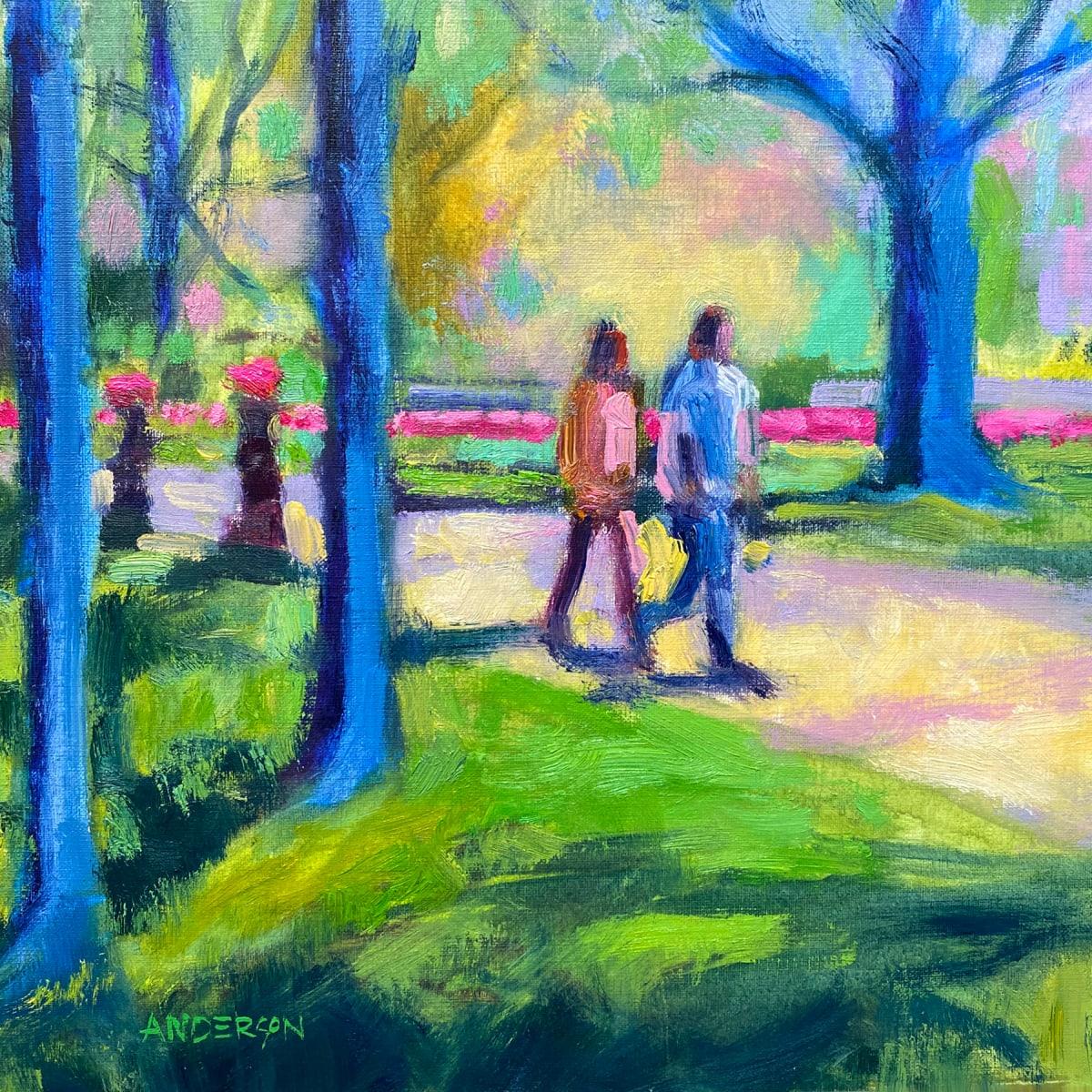 A Walk In Lafayette Park by Michael Anderson