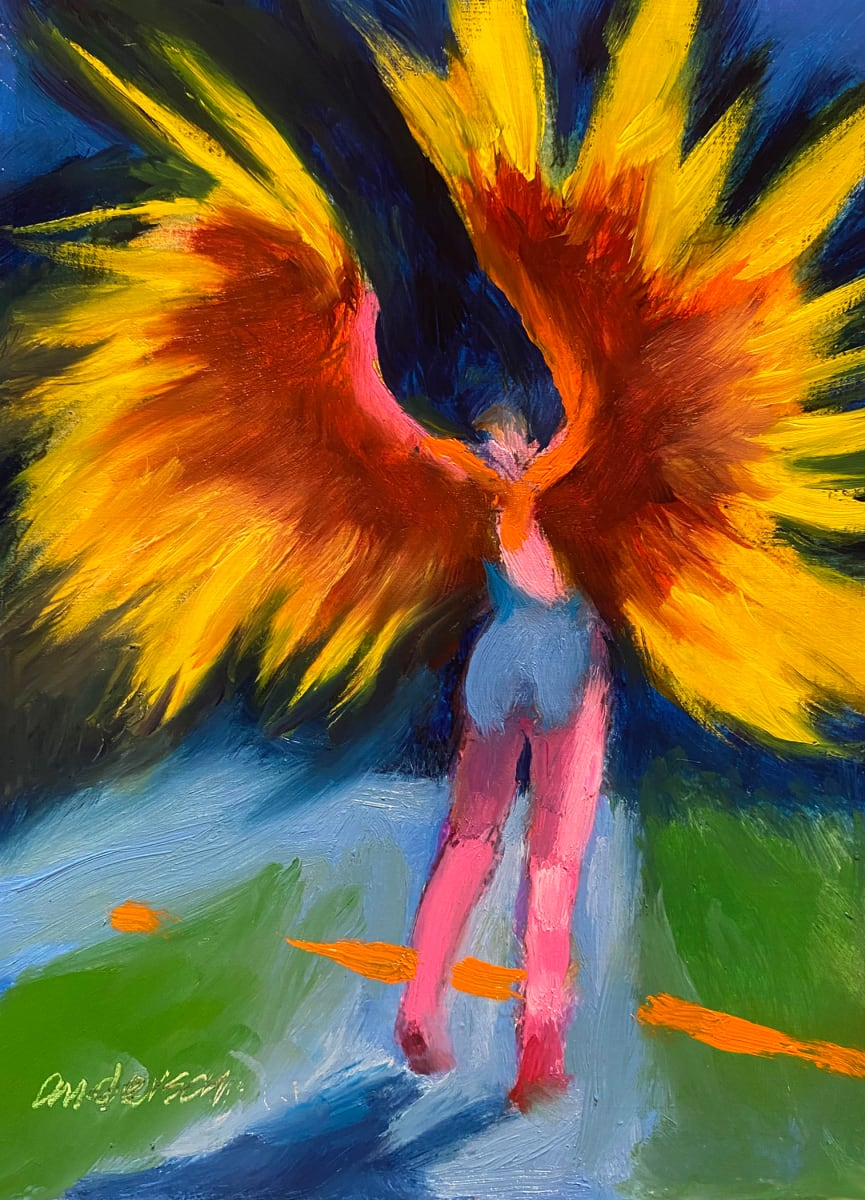 Winged Figure by Michael Anderson