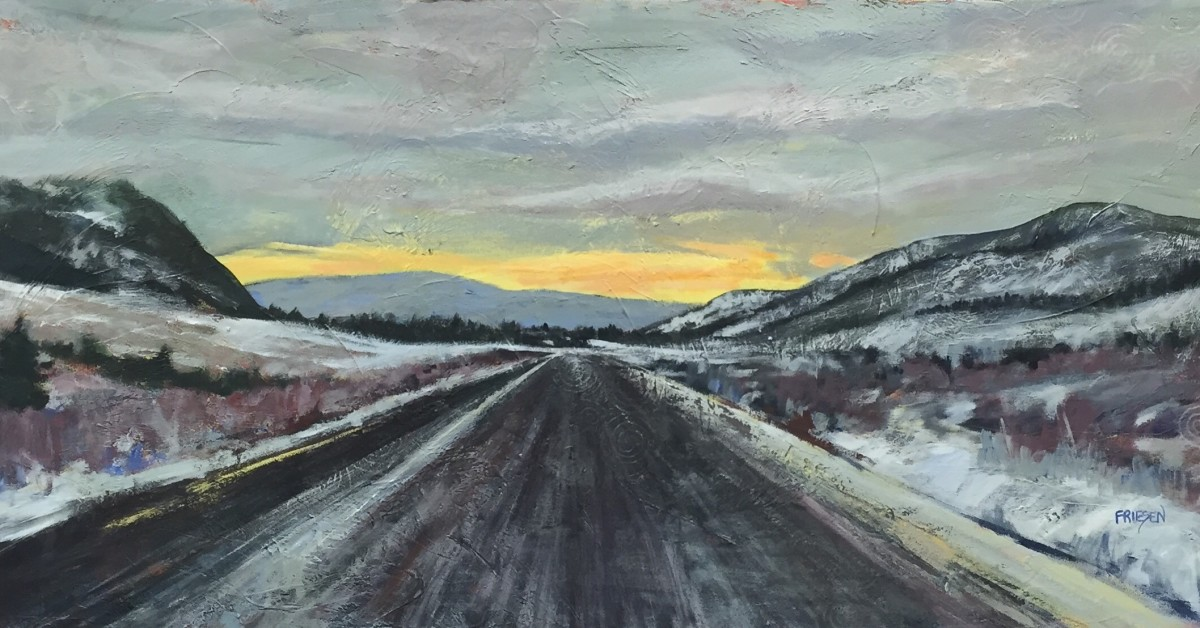 Road Tripping Towards the Light by Holly Friesen