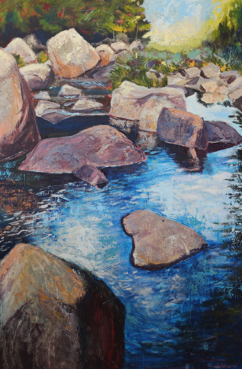 River, Rocks, Reflection by Holly Friesen