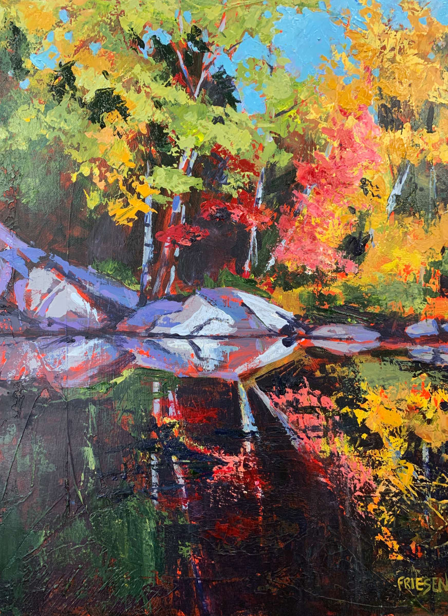 Autumn River by Holly Friesen