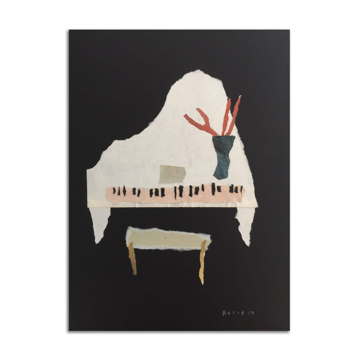 Baby Grand Piano by Rosie Winstead
