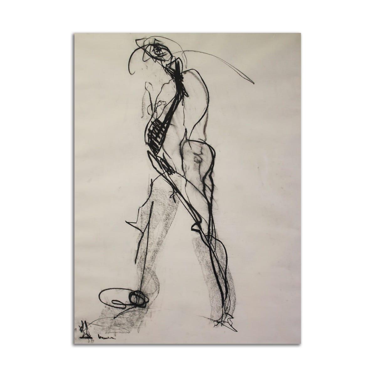 Black & White Drawing by Stephanie Cramer