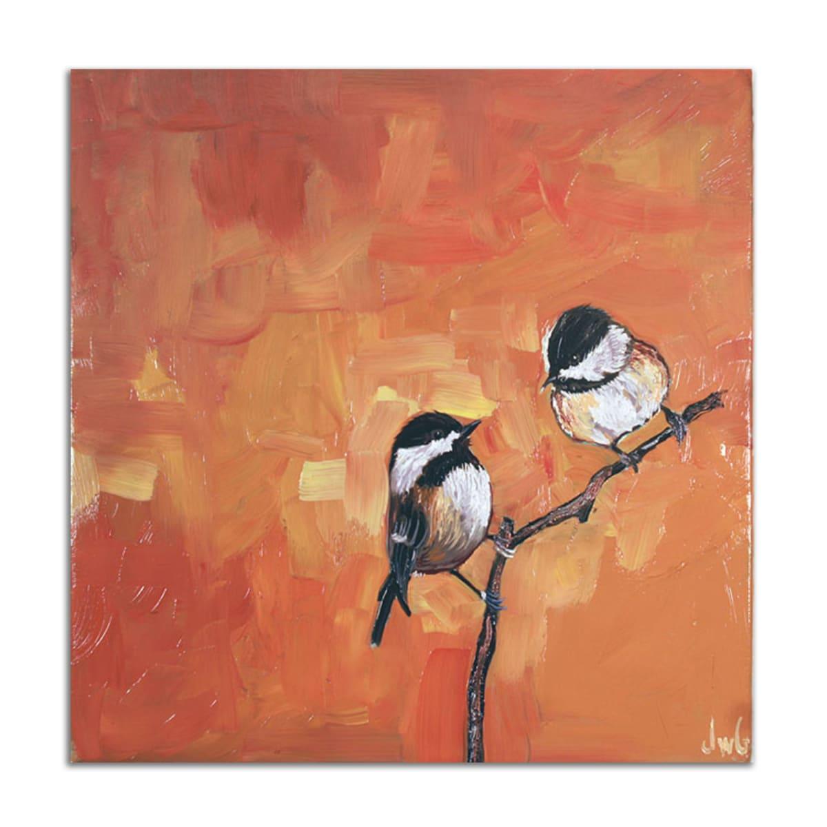 Chickadees in Orange by Jared Gillett