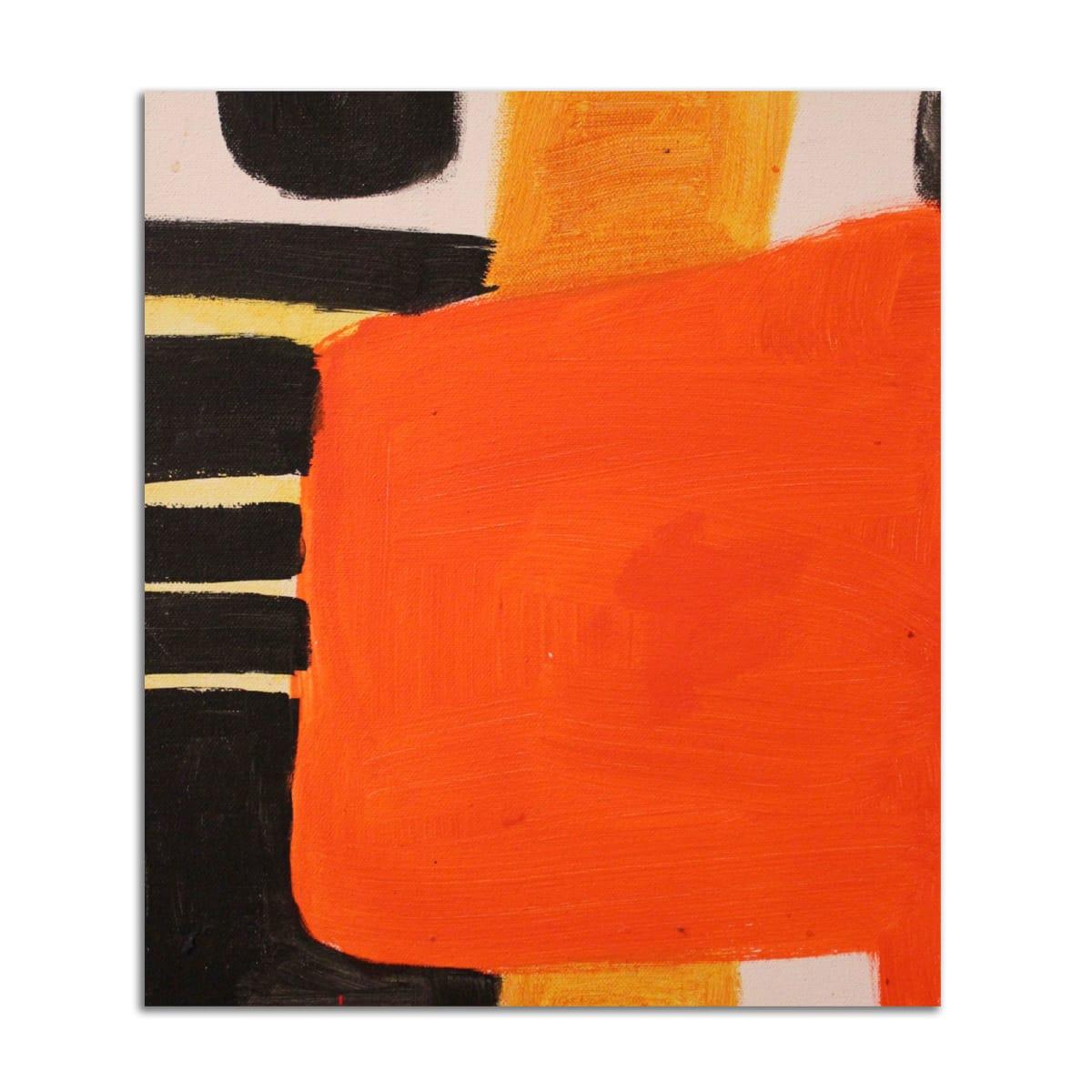 Orange Abstract by Stephanie Cramer