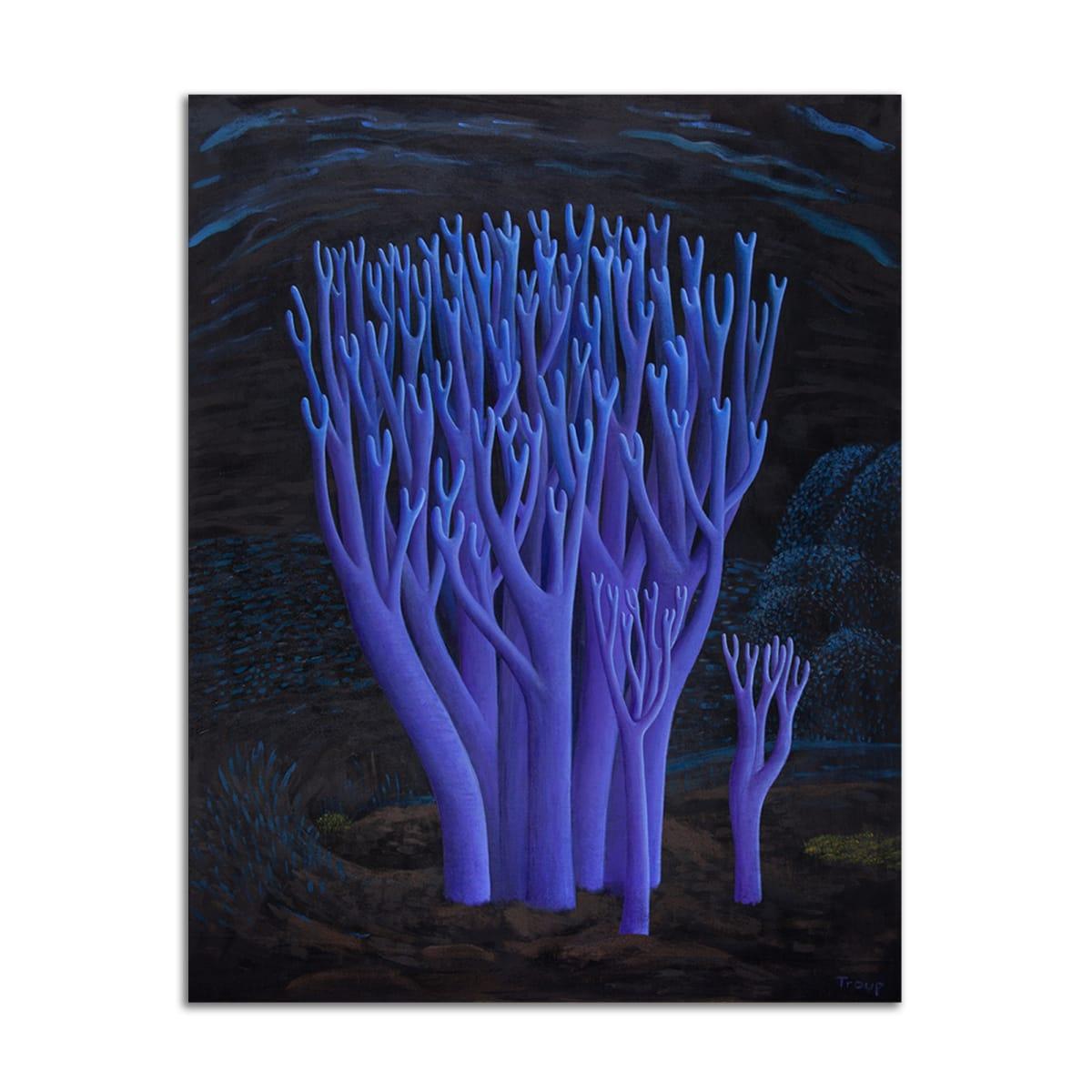 Violet Coral Mushrooms by Jane Troup