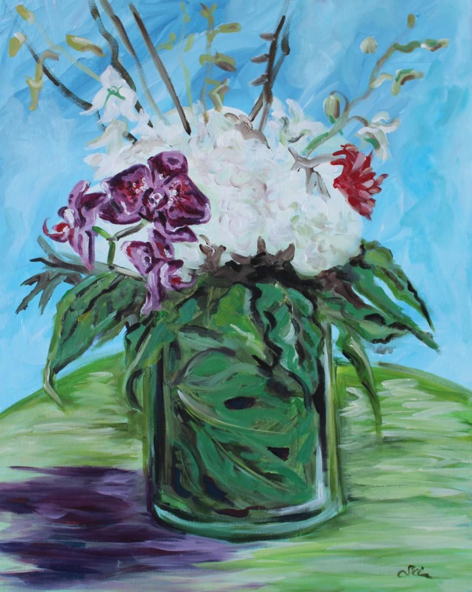 Orchid Bouquet II by Sonya Kleshik