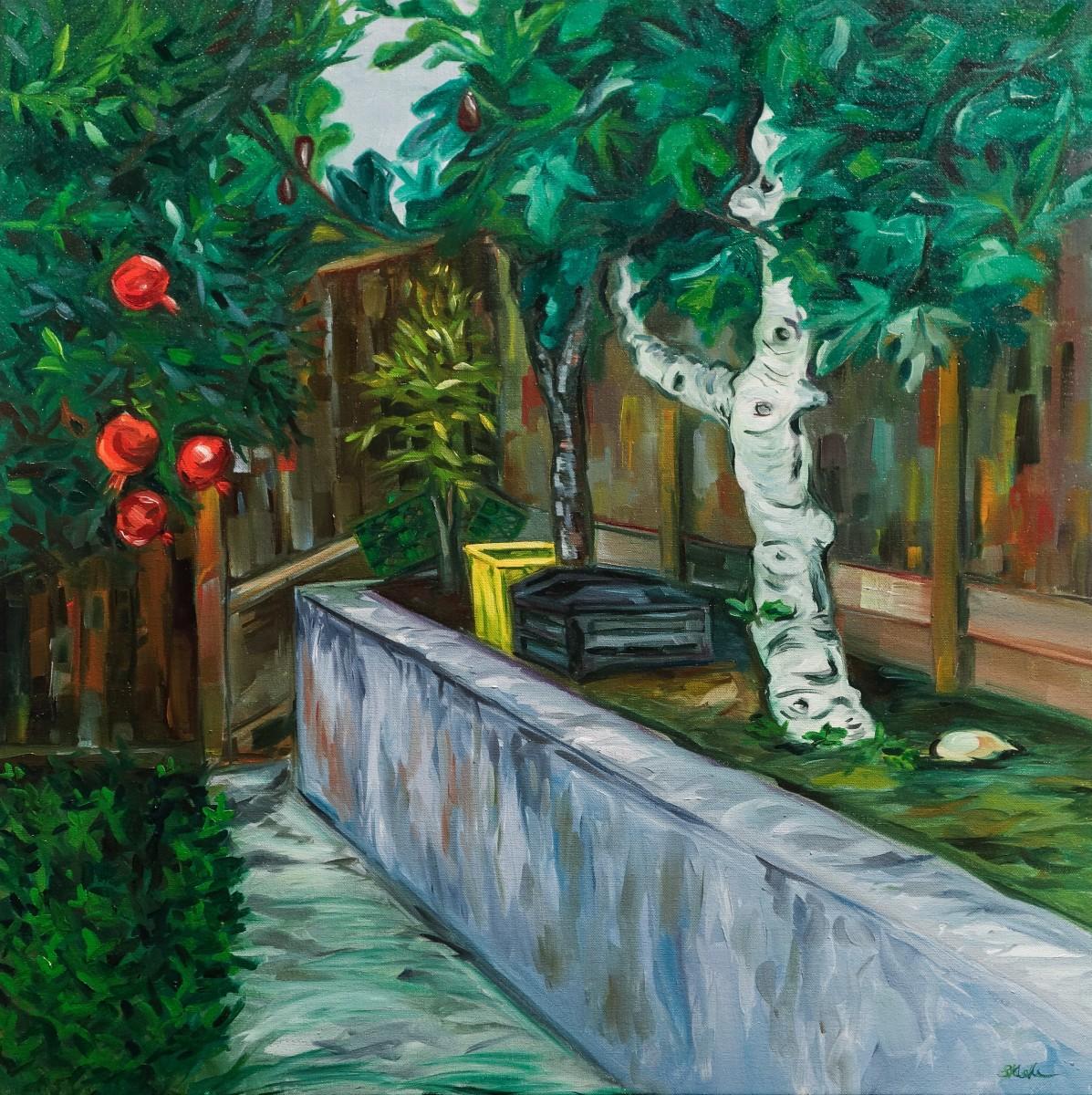 Garden with Fig Tree by Sonya Kleshik